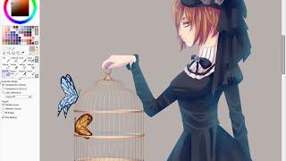 Manga Speedpaint: Gothic Lolita   Draw with me #5