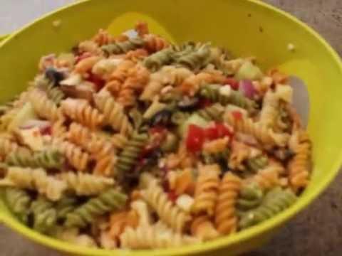 Pasta Salad With Zesty Italian Dressing Youtube