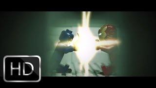 Lego Captain America: Civil War Bucky and Captain America Vs Ironman scene recreation shot for shot