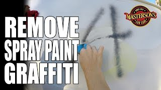 How To Remove Graffiti Spray Paint - Masterson's Car Care - Ford E-150 Van