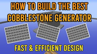 How To Build The Best Cobblestone Generator Quick Easy Hypixel Skyblock Youtube