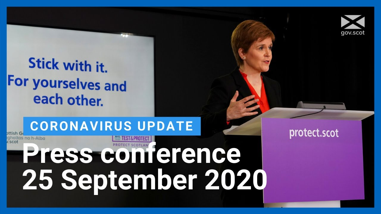 Coronavirus update from the First Minister: 25 September 2020