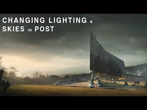 Architectural Visualization Tutorial - Changing Lighting and Skies - Post Production
