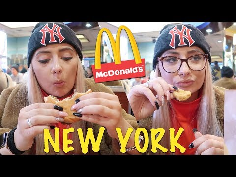 Trying mcdonalds in NEW YORK for the first time!!! Does it taste better?