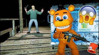 CAN ADVENTURE FREDDY HIDE FROM CRAZY JASON? (GTA 5 Mods For Kids FNAF RedHatter)