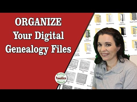 How to Organize Digital Files for Genealogy Research