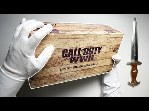 WWII LIMITED BOX UNBOXING! Call of Duty WW2 Gear Loot Crate Resistance DLC Gameplay