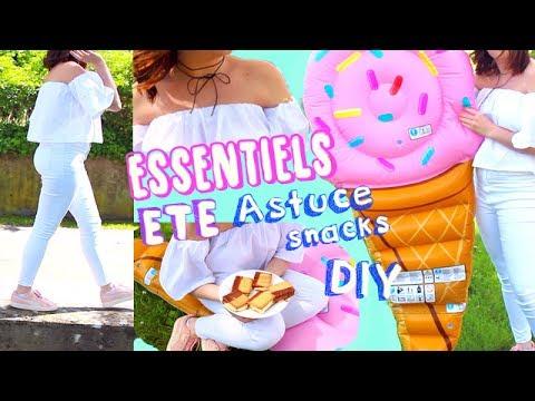 Mes essentiels été : Diy, astuce, snack, tenue, chocker┃Reva ytb