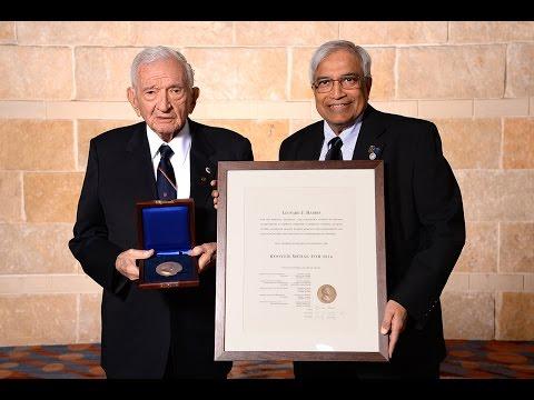 2016 Hoover Medal Award winner Dr. Leonard Harris