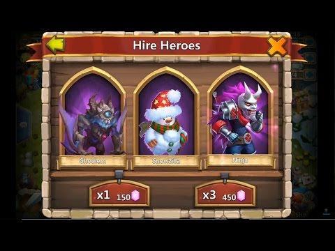 Castle Clash E25  WIN GHOUKEM Rolling GEMS 6300  Snowzilla Ninja Succubus Paladin