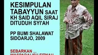 Tabayyun KH. Said Aqil Siraj Saat Difitnah sebagai Syi'ah