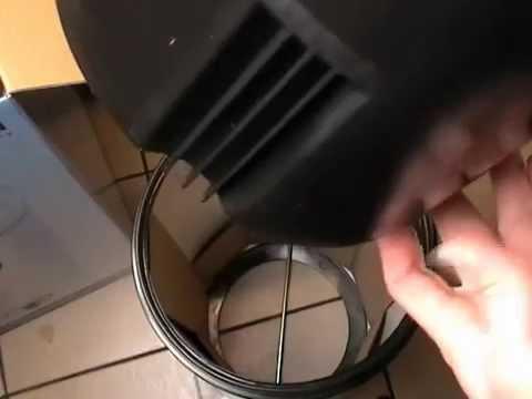 Brabantia Retro Bin 30-Litre with Plastic Inner Bucket Matt Black close look