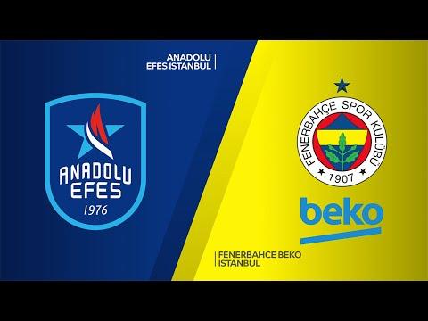 Anadolu Efes Istanbul - Fenerbahce Beko Istanbul  Highlights   EuroLeague, RS Ro