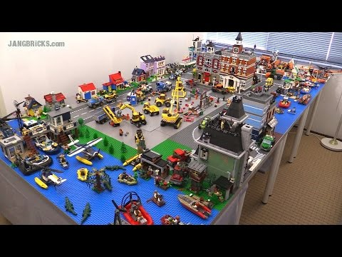 LEGO layout #2 update! ALL early 2015 City sets together! - YouTube