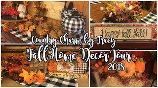 Fall Decor Home Tour 2018 | Primitive Country Decor | CountryCharmbyTracy
