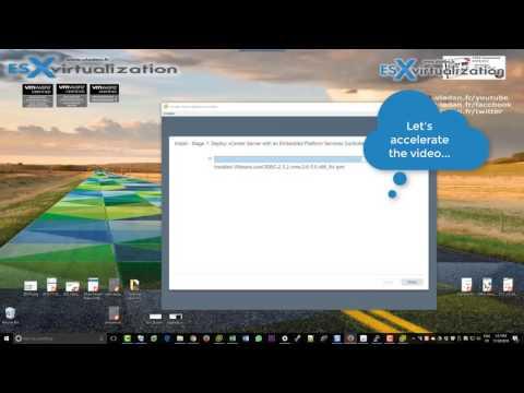 How to deploy VMware VCSA 6.5 (VMware vCenter Server Appliance)