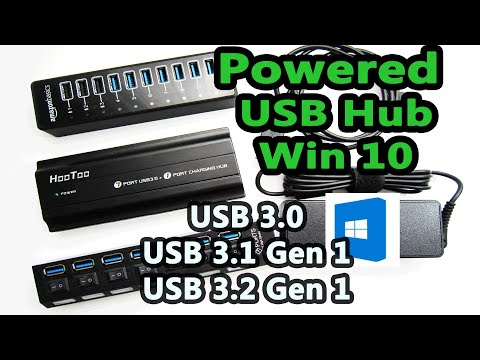 10 Port Powered USB 3.0 Hub That works with Windows 10  - USB 3.1 USB 3.2 Gen 1