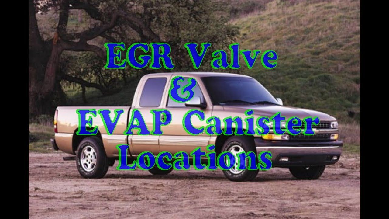 air injection, EGR valve, & EVAP caniter location on a ...