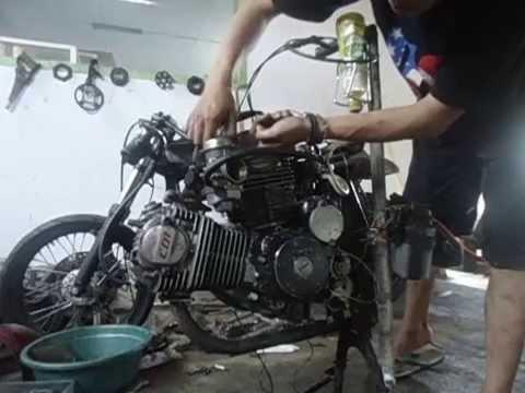Custom Indonesia Honda CB 100 CC Up 400 V Engine