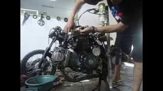 Custom Indonesia Honda CB 100 CC up 400 CC  V engine