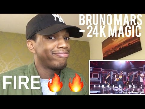 Bruno Mars - 24K Magic AMA's REACTION!!!
