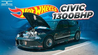 FAMOUS 1300bhp HONDA CIVIC  at HOT WHEELS EN MIAMI | Dani Clos