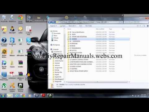 1993 94 95 96 97 98 99 Ford Ranger Repair Manual Free Pdf Download  YouTube