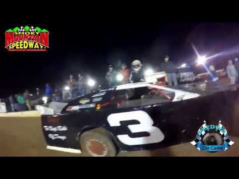 #3 Folid Self - Sportsman Late Model - 3-10-17 Smoky Mountain Speedway - Dirt Track In-Car Camera