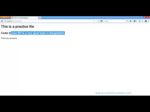 PHP Tutorial Bengali   Part 5   HTML with PHP and Comments in PHP thumbnail