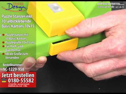 Your Design Puzzle-Stanzer inkl. 10 selbstklebende Basis-Kartons 10x15
