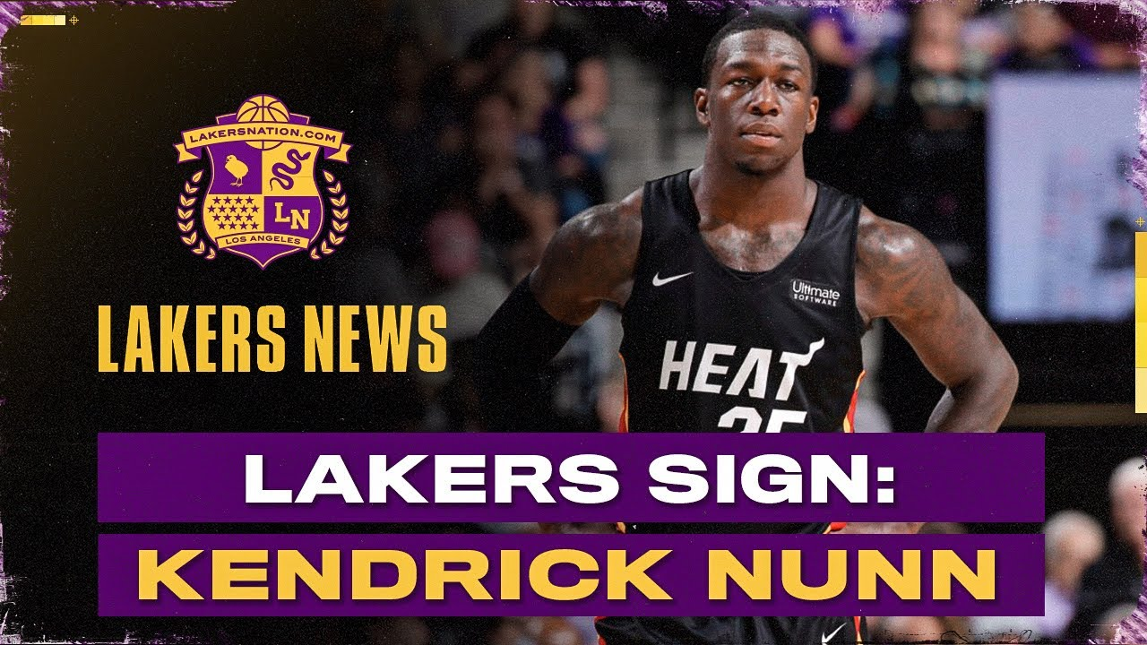 NBA free agency: Lakers to sign Kendrick Nunn to two-year deal ...