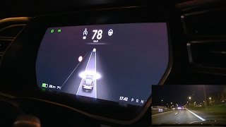 Tesla Model S Autopilot 7.0 demo and explanation