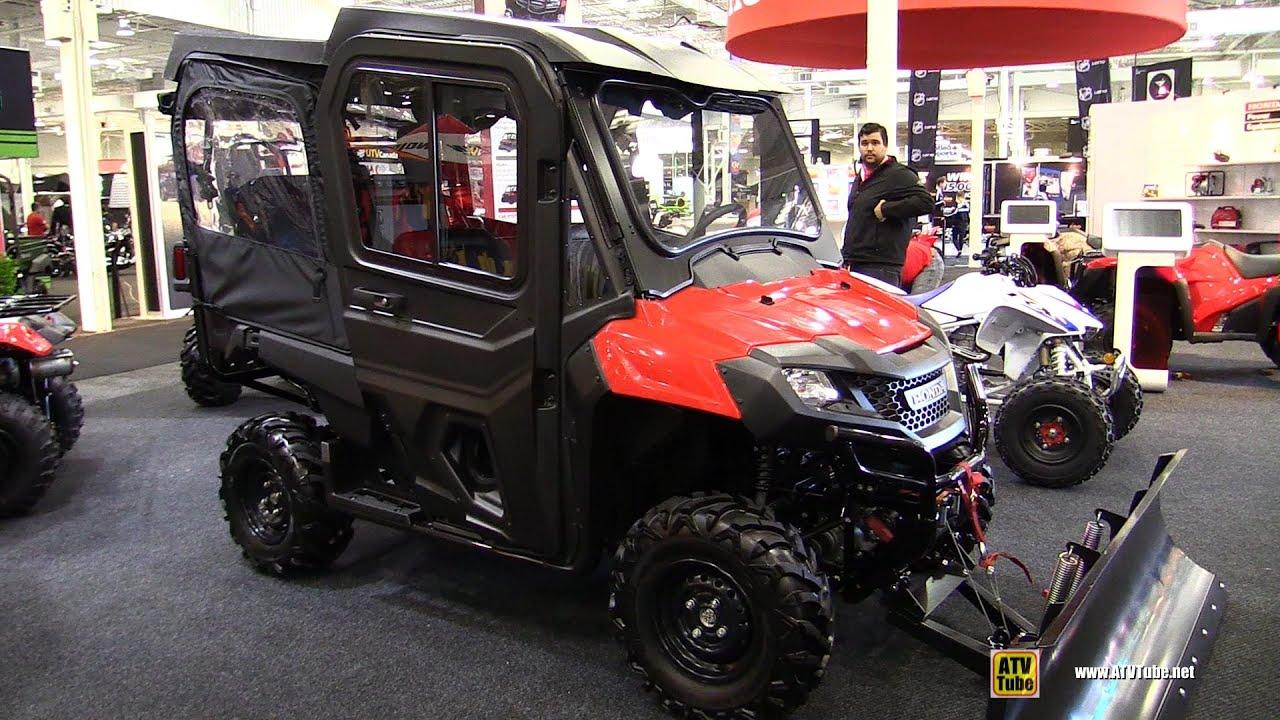 2015 Honda Pioneer 4 700 Utility ATV with Snow Gear Walkaround