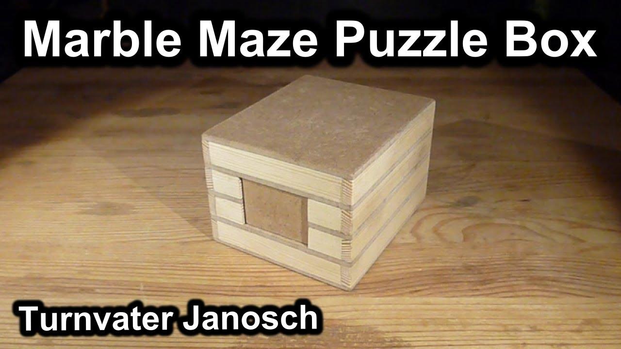 Marble Maze Puzzle Box Youtube