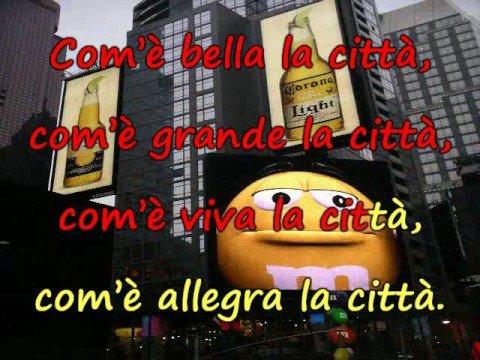 Sing-along karaoke - Com'è bella la città - Giorgio Gaber (1969)