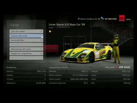 GT6-Camaras666- Reglaje Lister Storm Race Car´99- 600 Pr. HD Gameplay