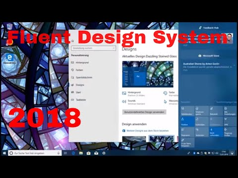 Fluent Design System Windows 10 (Insider Preview Preview Build 17063) quick overview