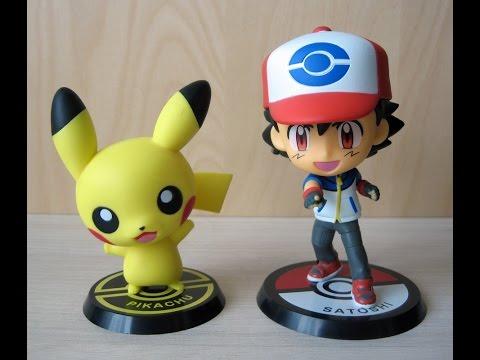 Boneco Ash e Pikachu Chibi - Pokémon - Pokefã #24