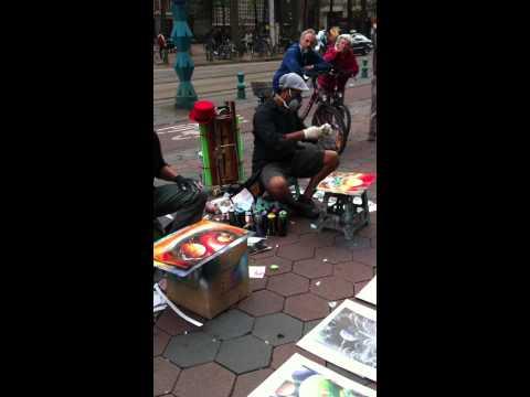 Street Artists In Amsterdam