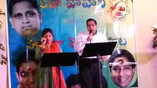 """Jaya kalyani & Srinivas Eyyunni """"Kanya Kumari Kanapada daari"""" from Bobbili Raja movie"""