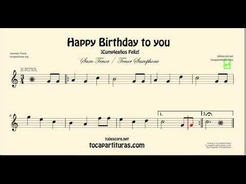 Happy Birthday Sheet Music for Tenor Saxophone