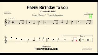 Happy Birthday Sheet Music for Tenor Saxophone