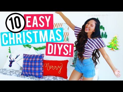 10 Easy Christmas Room Decor DIYs 2016! Cheap and Easy Holiday Room Decorations!