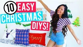 10 Easy Christmas Room Decor DIYs 2016! Cheap and Easy Holiday Room Decorations!