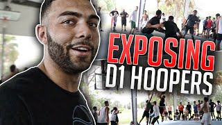 GOING OFF On D1 Hoopers AT THE PARK & They Were PISSED! (Mic'd Up 5v5)