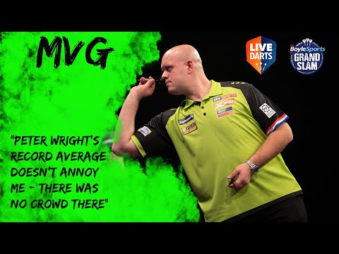 """Michael van Gerwen: """"Peter Wright's record average doesn't annoy me – there was no crowd there"""""""