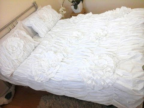How to replicate a designer duvet cover/no sew duvet covet upgrading DIY