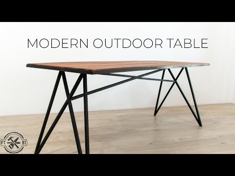 How to Make a Modern Outdoor Table