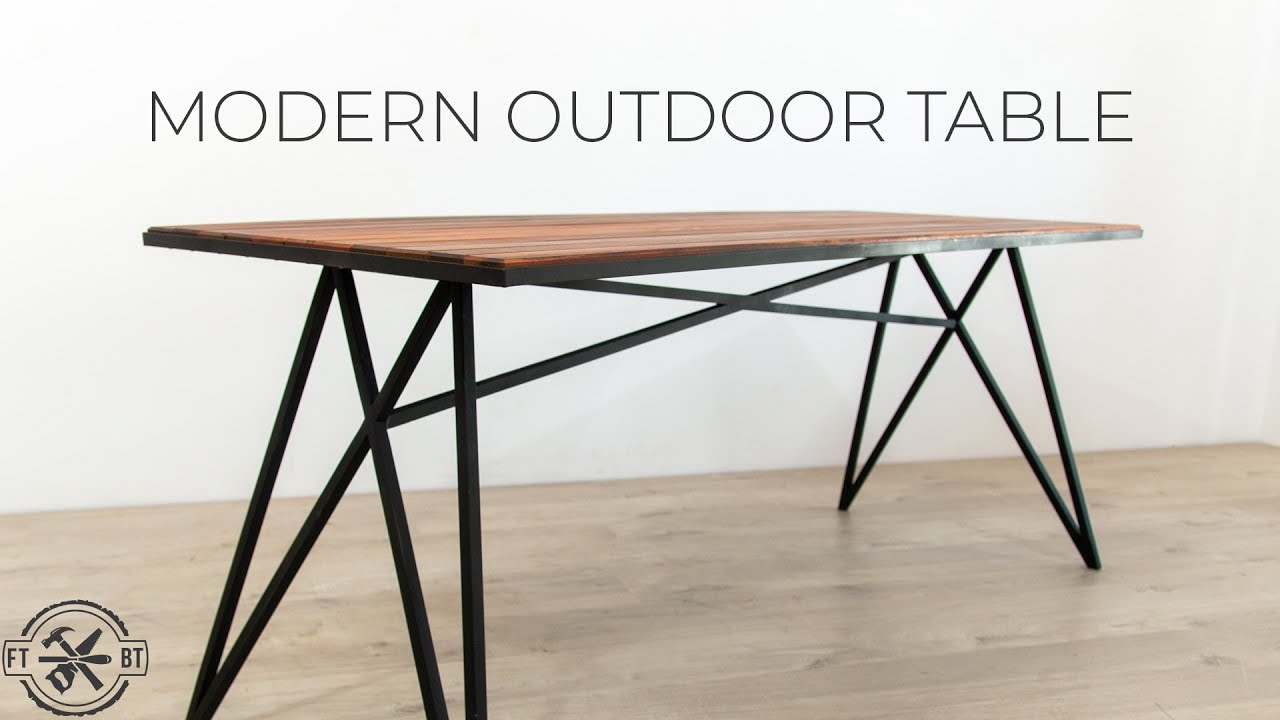 how to make a modern outdoor table youtube