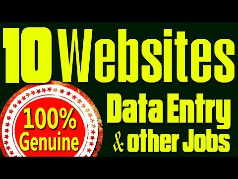 10 Best websites for Data Entry & other jobs | Top 10 websites to earn money online